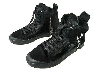 Diesel Zip Round Genuine Calf Fur S-Nentish Special High top Sneaker Mens Sz 9 ()