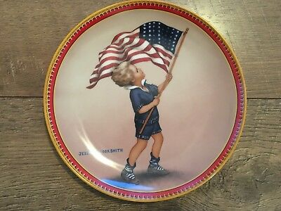 Vintage Jesse Willcox Smith Fourth of July Plate 1987 Knowles Collector Wilcox - 4th Of July Plates