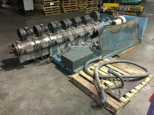 """Barmag 4"""" Vented Extruder with Controls and Reliance 125 HP DC Motor"""