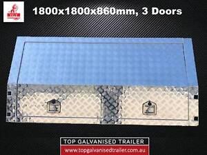 ALUMINIUM UTE CANOPY 1800X1800X860MM, 3 DOORS