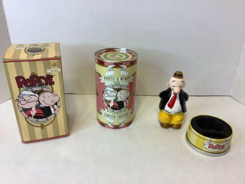 Limited Edition 1997 Popeye & Wimpy Tin & Figurine
