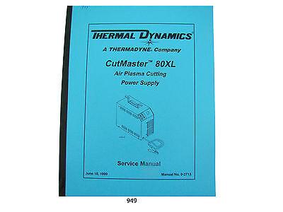 Thermal Dynamics Cutmaster 80 Xl Plasma Cutter Service Manual 949