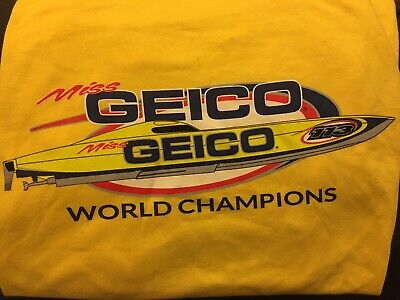 Miss Geico Offshore Power Boat Racing World Champions XL T Shirt RC Boat ⛵️ Offshore Boat T-shirt