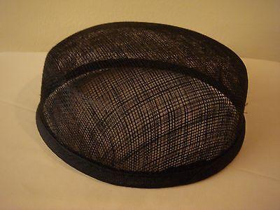 Black Larger Pillbox Hat Base for Dance Costumes  (Dance Costume Hats)