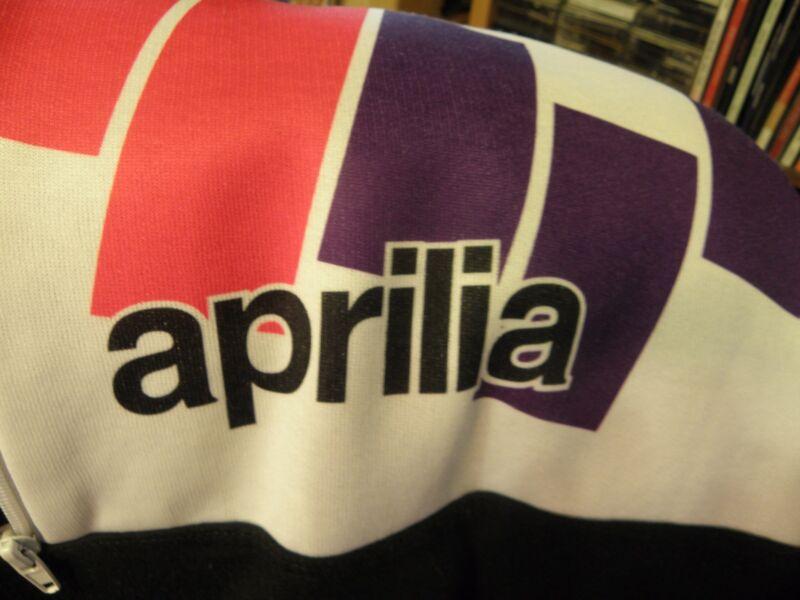 Aprilia Logo Vintage Long-Sleeve Sweatshirt w/Zipper at Top Italian Motorcycle