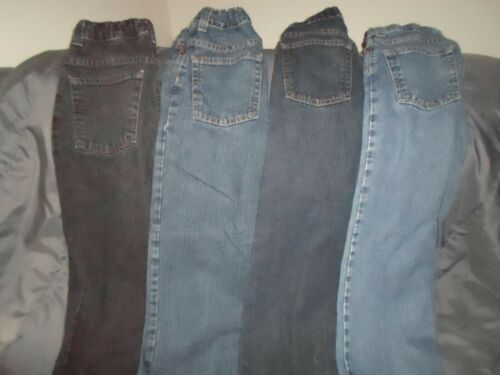 Lot of 4 Pairs of Distressed Jeans Boys Size 10R Canyon River Blues/ Route 66