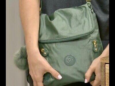 Kipling Aynela Premium Small Crossbody Bag BNWT METALLIC Green