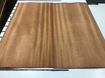 Mahogany Ribbon Wood Veneer 4 Sheets 23 X 12 519c