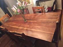 Hardwood dining table and chairs Sans Souci Rockdale Area Preview