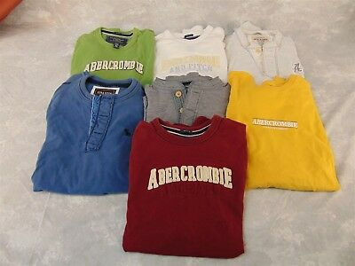 7 Genuine Vintage ABERCROMBIE & FITCH Men's Shirts XL Muscle & XL Ezra & XXL for sale  Shipping to India