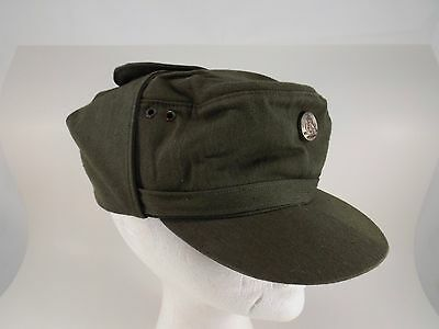 Vintage East German Army Military Field Cap / Hat -  Cold War Era   .