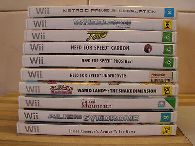 Wii Games Sonic, Metroid Prime, Wario, Avatar, Tony Hawk, etc. You Choose 1 VGC