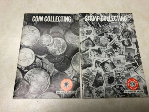 1967 Coin Collecting & 1968 Stamp Collecting Merit Badge Pamphlets