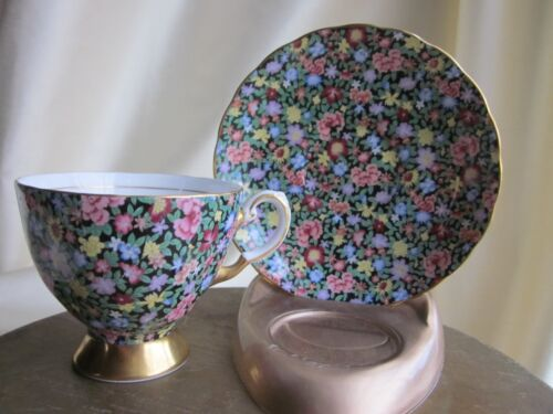Vintage Royal Tuscan Mille Fleurs Cup & Saucer