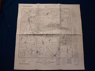 Landkarte Meßtischblatt 3942 Niemegk, Rietz, Marzahna, Lobbese, von 1945