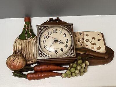 VINTAGE BURWOOD KITCHEN WALL CLOCK NEW HEAVEN CLOCK W/VEGGIES RETRO! NICE!