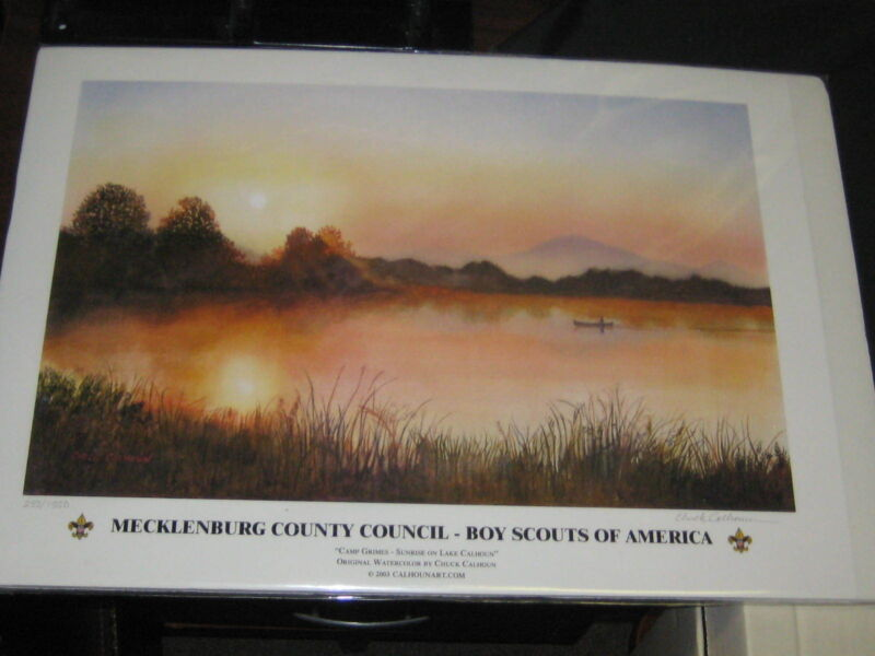 Camp Grimes--Sunrise on Lake Calhoun Print, Mecklenburg County Council    JJ