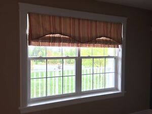 Roman Blinds (3) and 1 valance