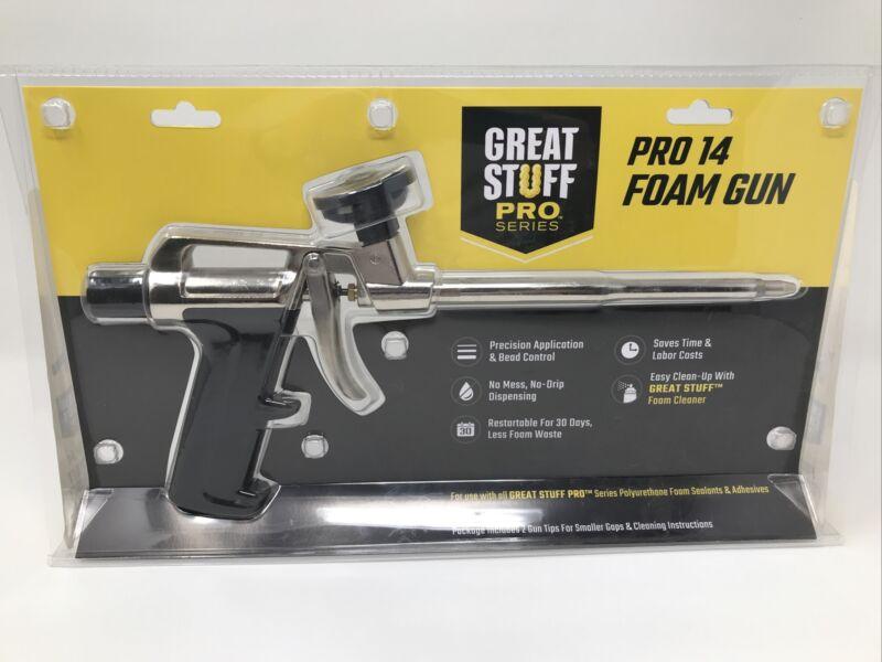 New GREAT STUFF PRO 99046685 Pro 14 Foam Dispensing Gun, Silver