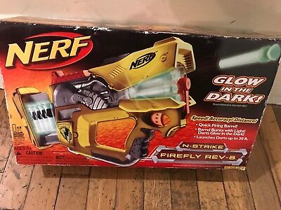 New Nerf N-Strike REV 8 Firefly Dart Gun Blaster Glow in the Dark Toy NIB 2006