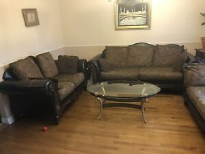 Leather sofa  , love seat and two seat rapid sale