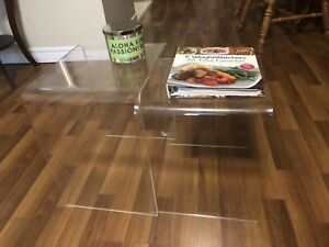 Set of Clear Side Tables
