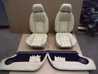 TVR CHIMAERA SEATS AND DOOR CARDS CREAM LEATHER SEATS AND DOOR CARDS