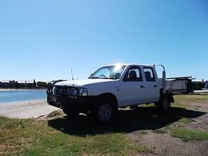 2006 Ford Courier Ute Dual Cab Tray back 2.5 Turbo diesel 5sp Man Wickham Newcastle Area Preview