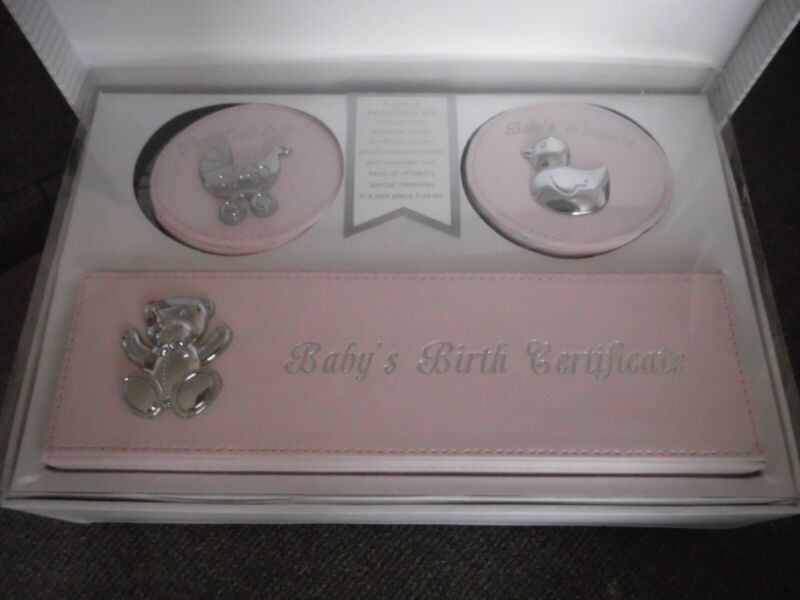 First Impressions - baby 4-Piece Keepsake Box  Brand New Gift Set.