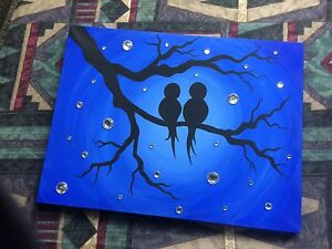 Two Bird Silhouette Painting
