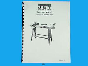 Jet Jwl 1236 Wood Lathe Operators Manual 193