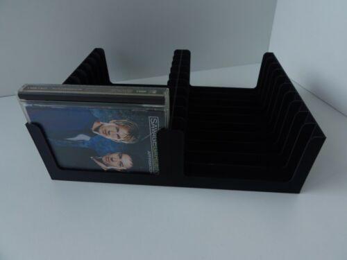 Black MiniDisc tray (Holds 20 discs in prerecorded cases) storage/stand/rack/box