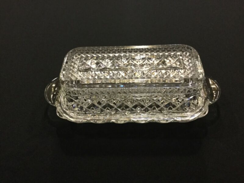 Wexford depression glass covered butter dish