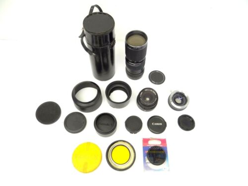 Lenses Camera Accessories Auto Pro Master Konica Japan Formula 5 Vintage Lot