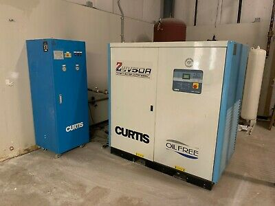 Curtis Rotary Screw Compressor Zwv50a Gardner Denver Desiccant Dryer Tank