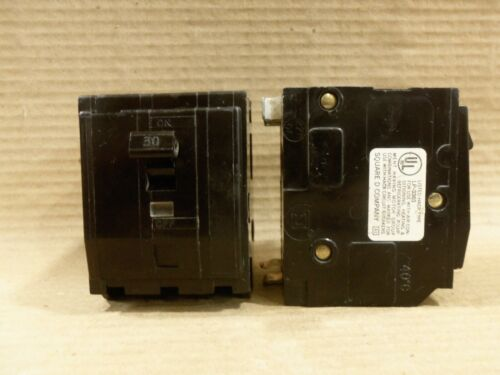 SQUARE D QO QO330 3 POLE 30 AMP CIRCUIT BREAKER BLACK SNAP IN