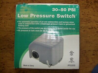 74621 Well Pump Pressure Switch 30 - 50 Psi Jet Submersible New 110 Or 220