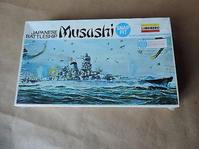 Maqueta Barco Lindberg 1/1150 Japanese Batalla Musashi N° 843 Nuevo Blíster