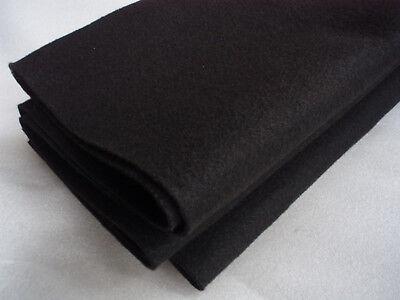 PROFI BOXEN BEZUGSSTOFF BESPANNUNG FILZ-BESPANNSTOFF schwarz NADELFILZ 150x100cm
