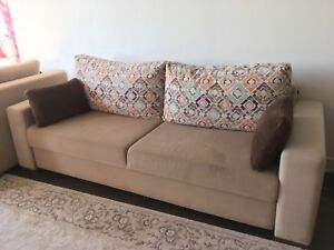 Sofa bed and love seat with storage