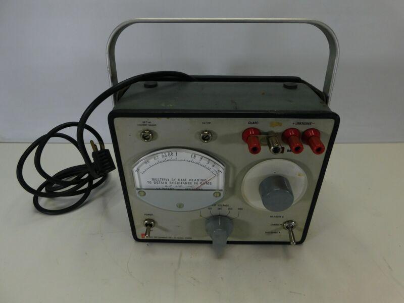 General Radio GenRad Model 1863 Megohmmeter Insulation Meter