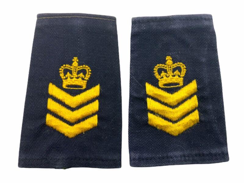 Canadian Canada Staff Sergeant Slip On Rank Police Insignia Yellow