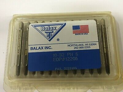 12 Pcs. Balax 10-32 Series Bxp Plug Chamfer Thredfloer Roll-form Taps