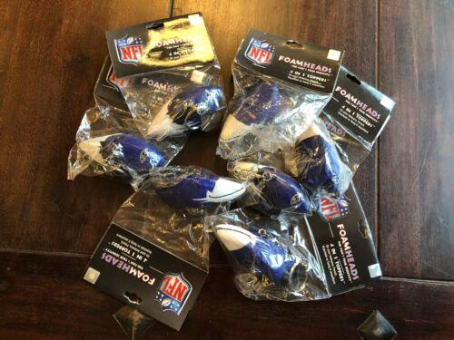 Lot 7 Baltimore Ravens NFL Foamhead Keychain /Antenna Topper