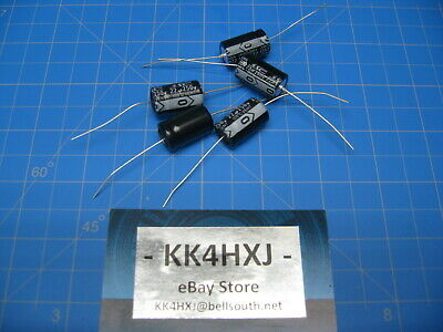 22uf Axial Capacitors - 250v 22uF Axial Electrolytic Capacitors - SC Brand/GHA Series - 5 Pieces