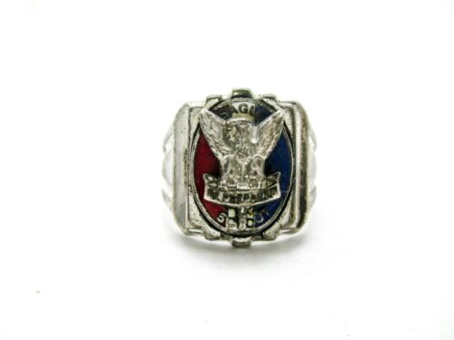 Vintage Boy Scouts Sterling Silver Eagle Scout Ring by Vargas Size 7