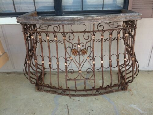 Antique French Wrought Iron Balcony