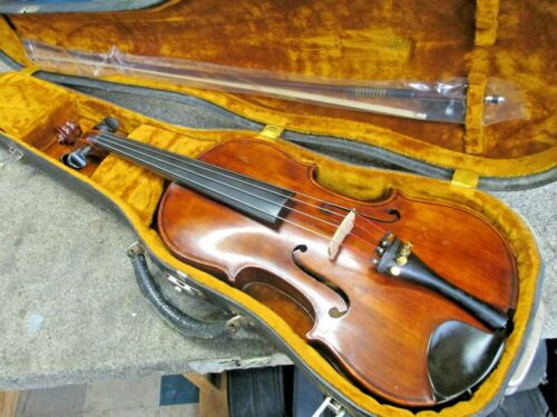 "Vintage European 14"" Viola Outfit, Stradivarius Label, Quality Wood & Hand Work!"