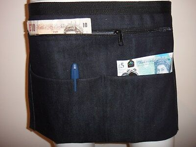 Denim Market Trader Money Belt, Bag, Adjustable Waist band 4 Pocket UK