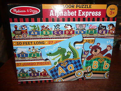 Melissa & Doug Alphabet Express Floor Puzzle Excellent Item